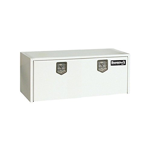 Buyers Products White Steel Underbody Truck Box w/T-Handle Latch (24x24x60 Inch)