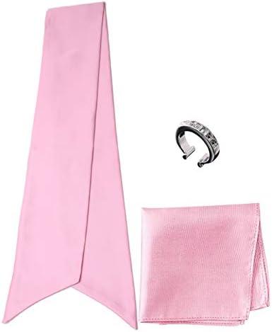 アスコットタイ・ポケットチーフ・タイリング マイクロポリ採用 チーフ メンズ タイリング:No.6 チーフ/タイ(タイプ/カラー):Pink-A