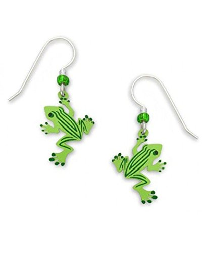 Sienna Sky Green Frog Dangle Earrings 1428