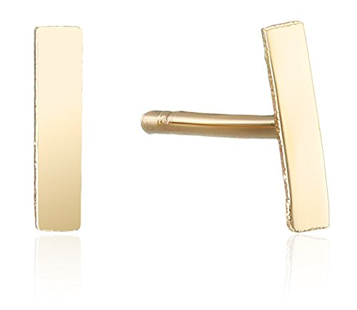 10k Yellow Gold Mini Bar Stud Earrings