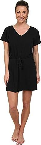 Speedo Women's Active Slub Jersey Hooded Cover Up Dress, Black, X-Large