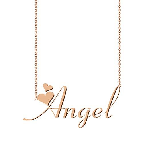 (ZAloha Personalized Custom My Any Name Necklace Angel)