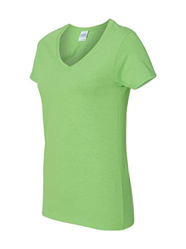 Gildan Heavy CottonTM Ladies' 5.3 oz. V-Neck T-Shirt, Small, -
