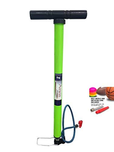 Raj Airwin Neon Heavy Duty Air Pump for Car Bike Cycle Sports Ball and Inflatable Furniture