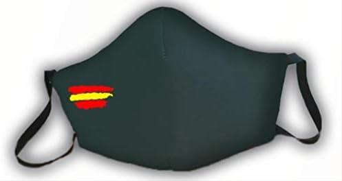 Macarilla verde protectora homologada 3 capas bandera de España: Amazon.es: Salud y cuidado personal