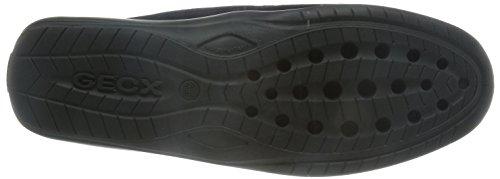 Geox U Xense Moc C para hombre del ante de los zapatos / Mocasines Blue