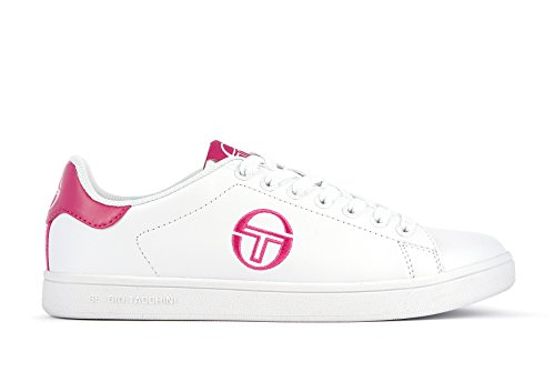 Sergio Tacchini - Zapatillas de Piel para mujer Blanco Bianco - Rosa 41