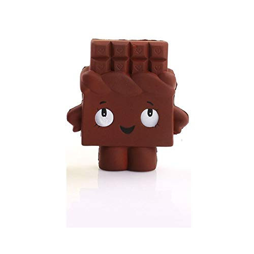 1 piece PU Squishy Fun Crazy Poo Chocolate Food Decompression Toys Imitation Soft Slow Rebound Children's Toys For Boys and girls ()