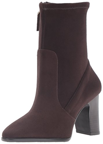Nine Ankle Dark Women's Bootie West Brown Sadiah TrT4qPwxB