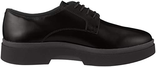 A Derbys D C9999 Femme Geox black Myluse Noir SFfwnEq7x