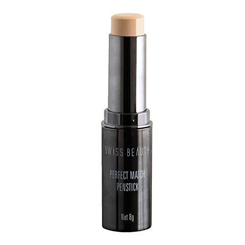 Swiss Beauty Perfect Match Foundation Panstick, Face MakeUp, Shade-01, 8g