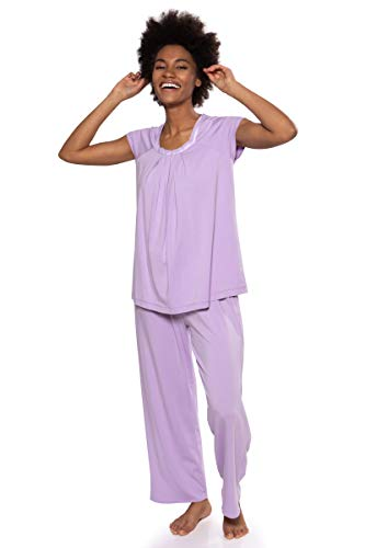 Texere Women's Pajamas in Bamboo Viscose (Bamboo Bliss, Orchid, XL) Gift for Mom ()