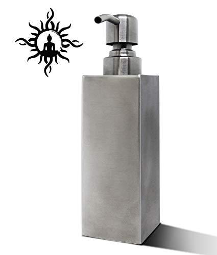 Buddha imports Stainless Steel Soap Dispenser Bottle, Hand Soap Dispenser Pump Bottle for Essential Oils, Lotions, Liquid Soaps, Shampoo Shower Gel Hand Lotion Bottle for Kitchen and Bathroom