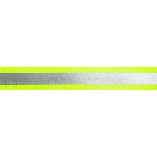 Jajasio Reflektorband Elastisch 5m Gelb 40mm breit, Gummiband Reflektierend, Gummiband Reflektierend