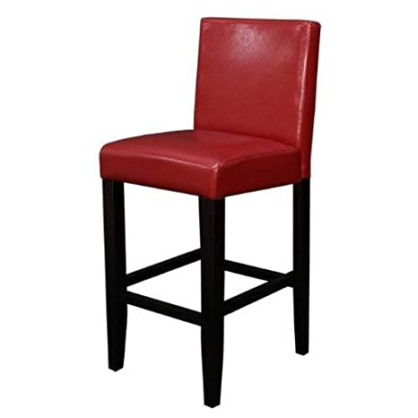 Enjoyable Monsoon Pacific Villa Faux Leather Counter Stool Red Unemploymentrelief Wooden Chair Designs For Living Room Unemploymentrelieforg
