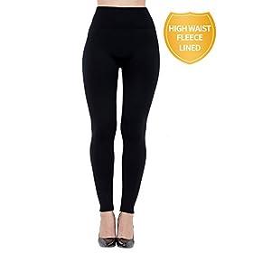 - 312V87sbniL - Dimore Fleece Lined Leggings for Women High Waist,Elastic and Slimming 6-Pack