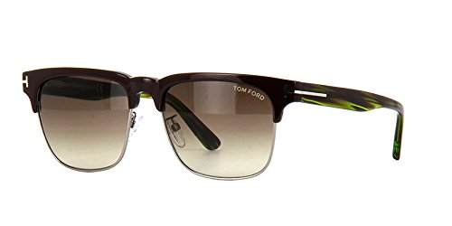Tom Ford Louis FT0386 Sunglasses Dark Shiny Brown w/Brown Gradient Lens 48K TF0386 386 For - Sunglasses 48k