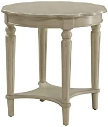 ACME Fordon Antique White End Table