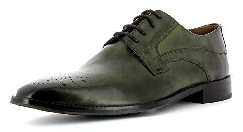 Gordon & Bros Herren Businessschuh Lorenzo S181722,Männer Schnürhalbschuh,Derby,Business-Schuh,Anzugschuh,Office-Schuh,Büro-Schuh,Freizeitschuh Green