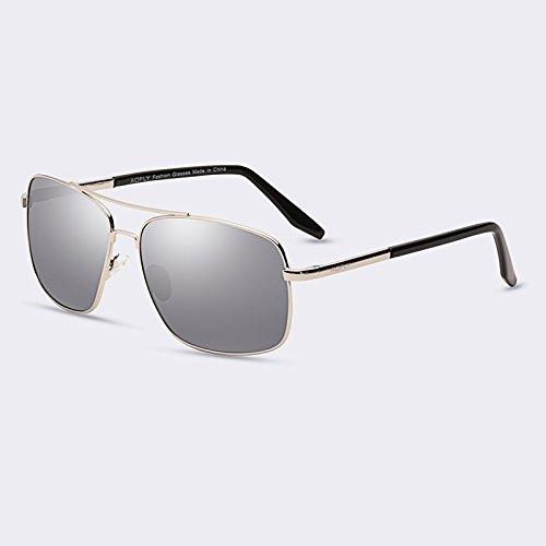 puente HD gafas C01gris sol hombres hombres degradado de de lentes C04Mirror gafas polarizadas de para TIANLIANG04 revestimiento doble gafas nwzqAx4n