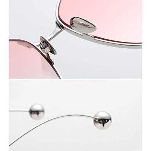 de lunettes New soleil de décoratif Lunettes Soleil B Mode Femme Sport Des Miroir Ladies A personnalité Big Box Couleur de d5qwXfAx