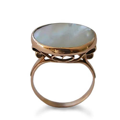 - Large Mother of Pearls Rose Gold ring
