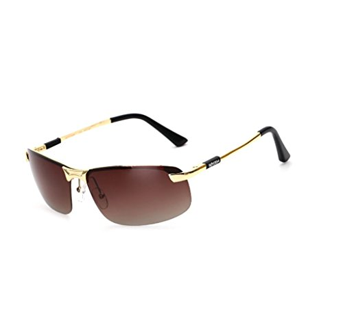 Gafas Sol para MEI Gafas de Deporte Sol Hombre Gafas protección Sol metálica polarizadas MX XU Gafas 8x13 Hombres de de Color con D de 13 para de E antideslumbramiento Montura 4cm rX0rZP