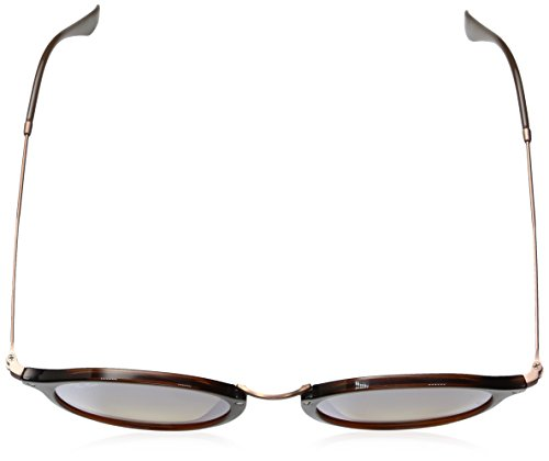 Trasparent Flat Round Ban Ray Sonnenbrille Shiny Lenses 2447N Brown RB Bwxn4FgA