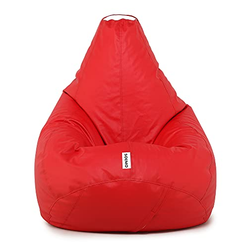 Amazon Brand   Solimo XXXL Bean Bag Cover Without Beans  Red