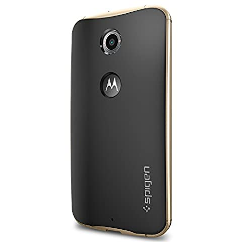 Spigen Neo Hybrid Nexus 6 Case with Flexible Inner Protection and Reinforced Hard Bumper Frame for Google Nexus 6 2014 - Champagne (Nexus 6 Cell Phone Case)