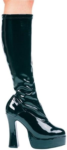 Ellie Shoes Women's 5 Inch Heel Stretch Knee Boots. With Inner Zipper (Black;9)