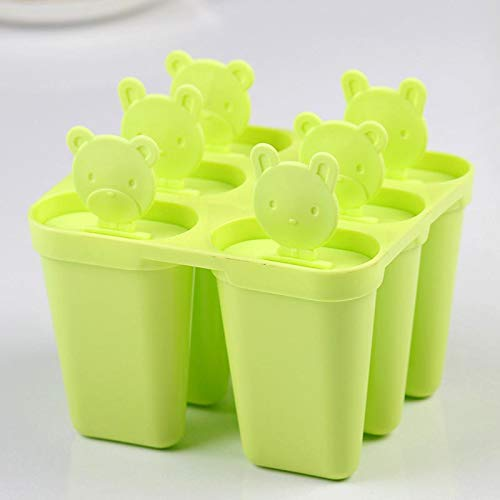 Labu Store Little Bear Ice Cube Maker Machine Popsicle Molds Ice Cream Mold Tray Diy 6 Pcs Fruit Trays Cubes Mould Kitchen Accessories