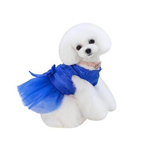 Dachshund Miniature Denim Shirt (Jim-Hugh Pet Dog Lace Princess Skirt Party Tutu Dancing Ballet Stage Dress Puppy Cat Clothes Small Dogs Supplies)