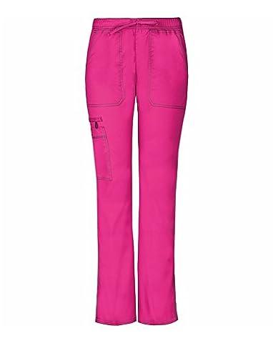 Gen Flex By Dickies Women's Low Rise Straight Leg Scrub Pant Small Hot Pink - Hot Pink Scrub Pants