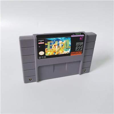 Game card - Game Cartridge 16 Bit SNES , Game EVO E.V.O. Search For Eden - RPG Game Cartridge Battery Save US Version (Best Sega Genesis Rpg)