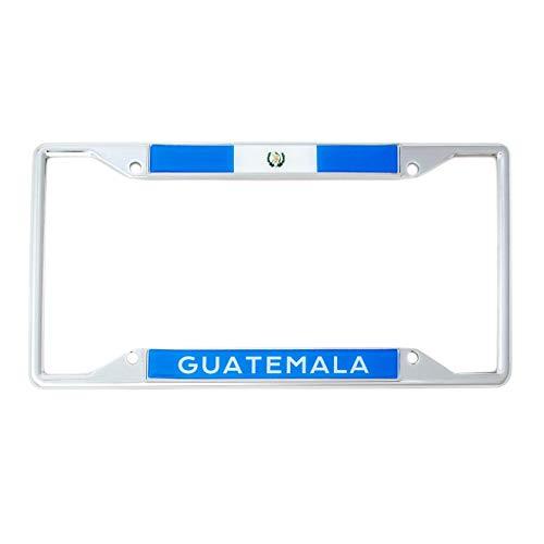 Desert Cactus Country of Guatemala Flag License Plate Frame for Front Back of Car Vehicle Truck Guatemalan