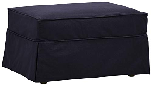 Stone & Beam Carrigan Casual Ottoman with Slipcover, 33
