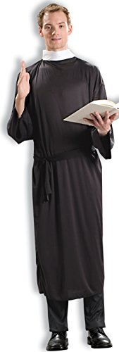 [Forum Novelties Men's Priest Costume, Black, Standard] (Priest Halloween Costumes)