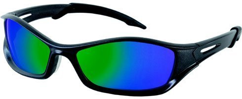 Crews TB11G MCR Tribal Safety Glasses Graphite Frame Emerald Mirror Lens, 1 Pair by MCR Safety