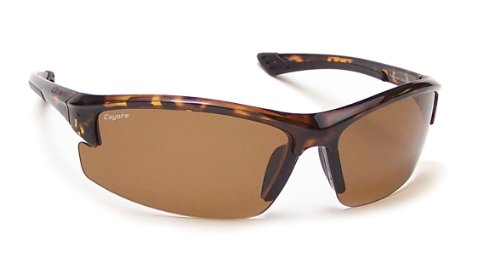 Coyote Eyewear Polar Lite Glacier Polarized Sport Sunglasses, Tortoise, - Sunglasses Oblong