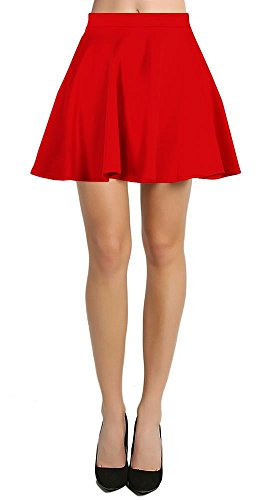Womens Short Mini Skater Skirt Flared with elastic waist. 4 colors - made in the USA.