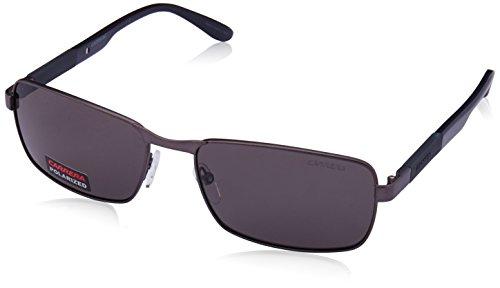 Carrera 8017/S Sunglasses CA8017S-0U4B-M9-5817 - Matte Rut Gray Frame, Gray Polarized Lenses, - Uv Carrera Protection