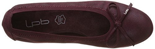 Bombes Ballet Burgundy Flat Edelweiss P'tites Red Women's Les anTw6R1x