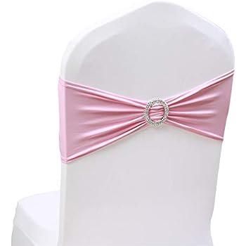 Amazon.com: Boshen 25/50/100 lazos elásticos para sillas ...