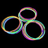 "50 22"" Premium Night Lights Brand Glow Stick Necklaces Plus 5 Free- 55 Necklaces Total!"