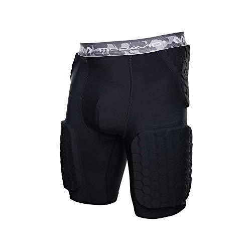 McDavid Padded Compression Shorts with HEX Pads. Dual-Density Thudd Tights with Hip, Tailbone, Thigh Padding. for Men and Women. with Cup Pocket. (Compression Padded Mcdavid Shorts)