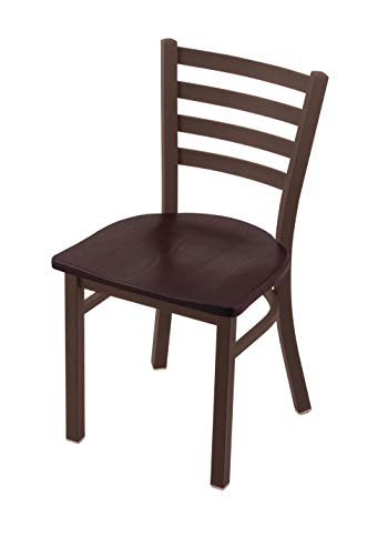 """Holland Bar Stool Co. 400 Jackie 18"""" Chair with Bronze Finish and Dark Cherry Oak Seat"""