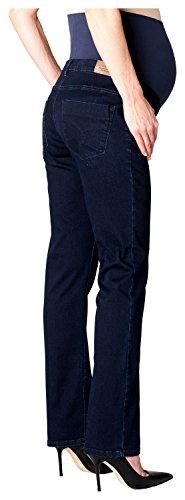 ESPRIT Maternity Pants Denim Otb Straight, Vaqueros Premamá para Mujer Azul (Darkwash 910)