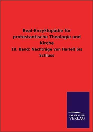 Book Real-Enzyklopadie Fur Protestantische Theologie Und Kirche (German Edition)