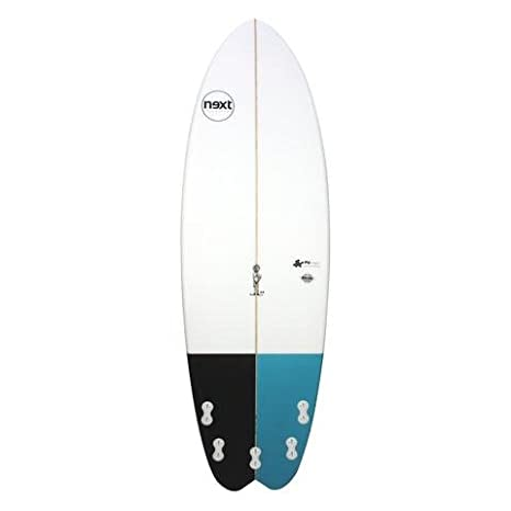 next 5 8 Joy rendimiento sintética tabla de surf, color blanco/azul/negro: Amazon.es: Deportes y aire libre